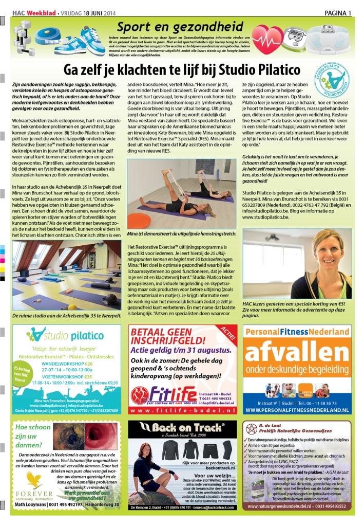 HAC Weekblad Sport- en Gezondheidspagina 29 2014